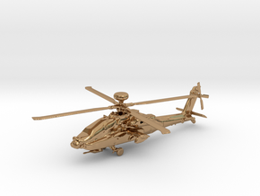 Helicopter Apache Ah-64 Gold & precious materials in Polished Brass