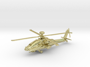 Helicopter Apache Ah-64 Gold & precious materials in 18k Gold Plated