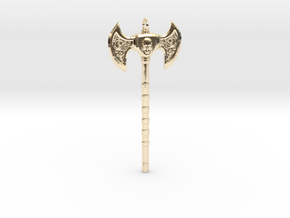Warrior Skull Necklace in 14K Yellow Gold