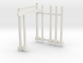 Wackyworm trailer track supports and light stands in White Natural Versatile Plastic