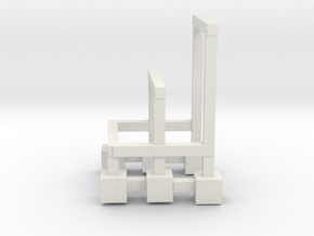 Wacky Worm decline track supports in White Natural Versatile Plastic