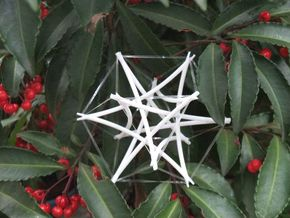 Tensegrity Cuboctahedron 2 in White Natural Versatile Plastic