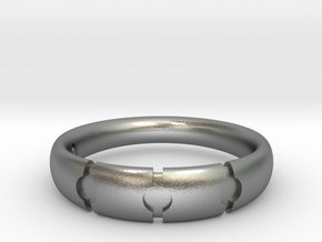 Enigmatic ring_Size 13 in Raw Silver