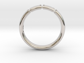Enigmatic ring_Size 13 in Rhodium Plated Brass