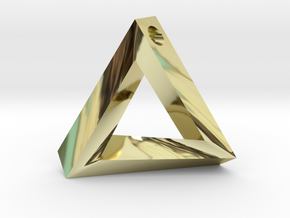 Impossible Triangle Pendant in 18k Gold Plated Brass