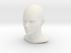 1/6 SCALE FEMALE HEAD FIGURE  in White Natural Versatile Plastic