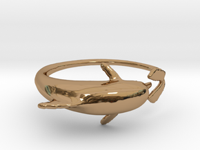 Dolphring in Polished Brass