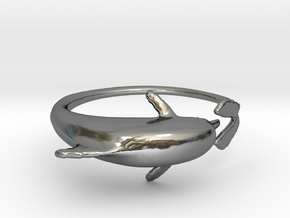 Dolphring in Fine Detail Polished Silver