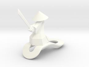 Striking Samurai - Key Chain in White Processed Versatile Plastic