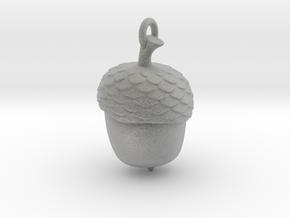 Acorn Necklace in Metallic Plastic