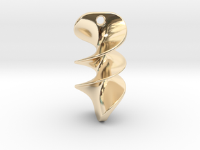 012 NECKLACE in 14k Gold Plated Brass