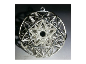 Super Penta Sphere in Polished Silver