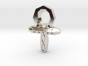 Small Ankh in Platinum