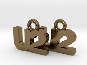 U2 Earrings in Polished Bronze