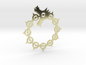 Maliodas The Dragon Sin Full Detail in 18k Gold Plated Brass