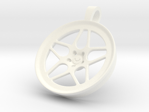 Vossen LC104 KeyChain Pendant 35mm in White Processed Versatile Plastic