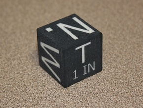 1 IN Solid Photo Scale Cube in Full Color Sandstone
