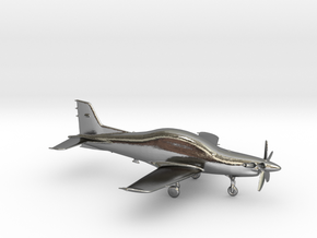 Pilatus PC-21 Turboprop gold & precious materials in Polished Silver