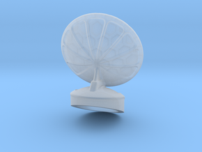 Free Standing Radar Dish 6mm Scale in Smooth Fine Detail Plastic
