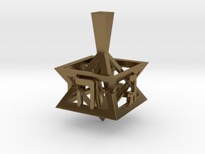 Geometry Dreidel in Polished Bronze