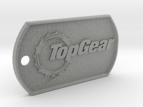 TopGear Logo Dog Tag in Metallic Plastic