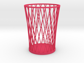 Lattice Pencil Holder in Pink Strong & Flexible Polished