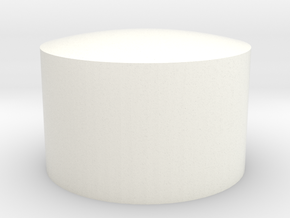 .75 Concave Insert in White Strong & Flexible Polished