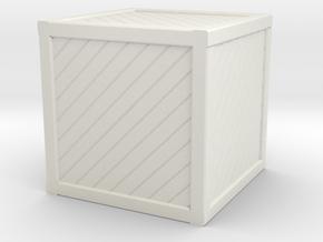Large Open Crate Miniature in White Natural Versatile Plastic