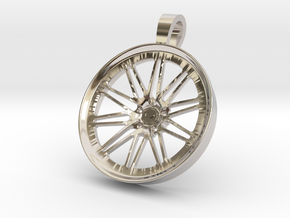 Vossen LC107 KeyChain Pendant 35mm in Rhodium Plated Brass
