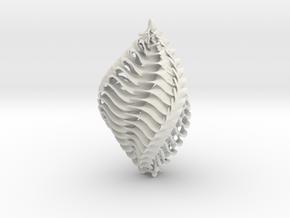 Mathematical Mollusca -  Orange/Green Ornament  in White Natural Versatile Plastic