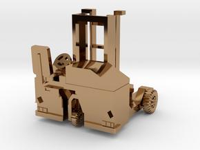 H0 scale: Forklift, Vorklift, Kooiaap, Gabelstaple in Polished Brass