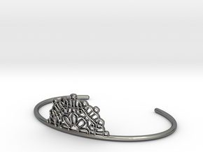 Half Lace Cuff - small in Fine Detail Polished Silver