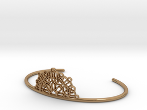 Half Lace Cuff - small in Polished Brass