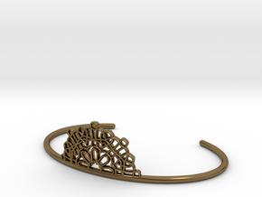 Half Lace Cuff - small in Polished Bronze