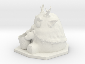 Moonkin Sculpture in White Natural Versatile Plastic