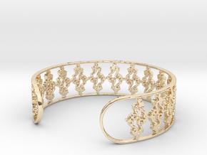 Julia Set Bracelet 7in (18cm) in 14k Gold Plated Brass