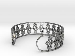 Julia Set Bracelet 7in (18cm) in Premium Silver