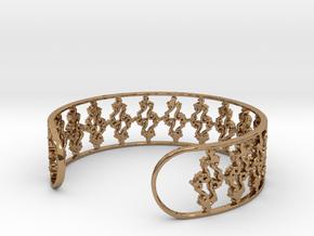 Julia Set Bracelet 7in (18cm) in Polished Brass