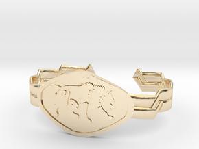 "2.5"" Wolf Bracelet in 14k Gold Plated Brass"