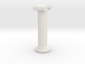 Roman Column Candle Holder in White Natural Versatile Plastic