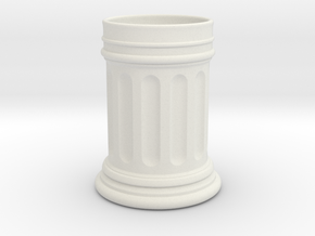 Roman Column Mug in White Natural Versatile Plastic