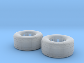 1/25 Scale Pair Of 325 50 15 MT Slicks in Smooth Fine Detail Plastic