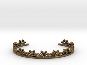 Lace Wrap Cuff - small in Polished Bronze