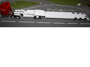 000037 ( 2 axle Dolly ) Heavy Trailer HO 1:87 in White Natural Versatile Plastic