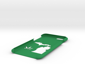 Michigan Legalize Iphone Case in Green Processed Versatile Plastic