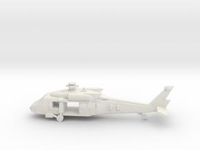 10mm (1/144) UH-60M (main,front cabin doors open) in White Natural Versatile Plastic