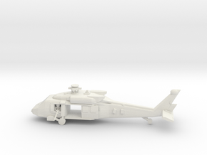 10mm (1/144) UH-60M (main,front cabin doors open,  in White Strong & Flexible
