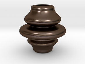 3.58inch Rounded Finial in Polished Bronze Steel