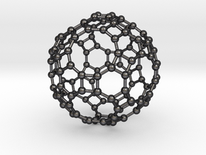 0285 Great Rhombicosidodecahedron V&E (a=1cm) #003 in Polished and Bronzed Black Steel