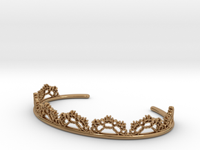 Open Lace Cuff - small in Polished Brass